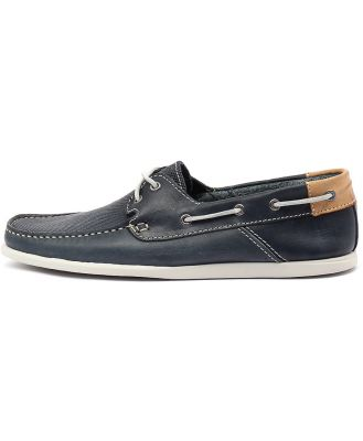 Wild Rhino Bentley Navy Shoes Mens Shoes Casual Flat Shoes