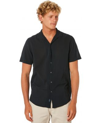 Academy Brand Bedford Mens Ss Shirt Charcoal Charcoal