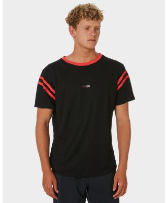 Adelio College Channel Flow Surf Tee Black