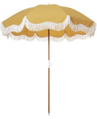 Business And Pleasure Co Holiday Beach Umbrella Vintage Gold