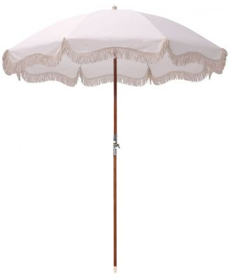 Business And Pleasure Co Premium Beach Umbrella Antique White