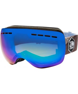 Carve Titanium Snow Goggles Matt Black Green