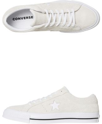 Converse Mens One Star Suede Shoe White White