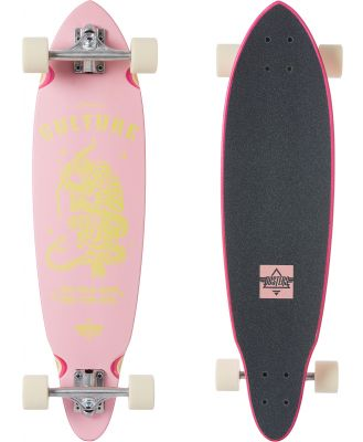 Dusters Culture 33 Inch Longboard Pink Yellow