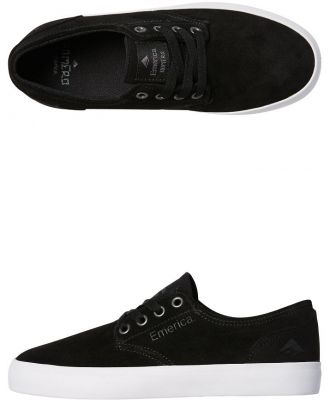 Emerica Kids Romero Laced Vulc Shoe Black White Gum