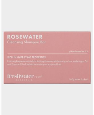 Freshwater Farm Rosewater Cleansing Shampoo And Conditioner Bar Set Rosewater Rosewater