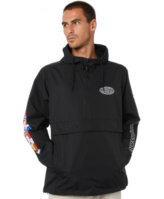 Huf World Tour Anorak Mens Jacket Black