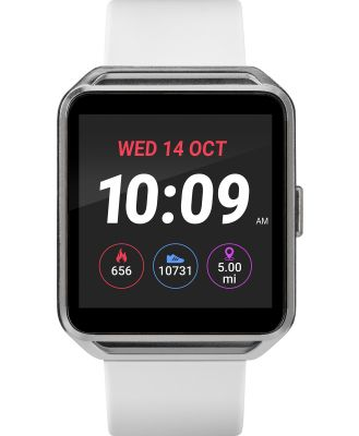 Iconnect By Timex Iconnect Classic Smart Watch Silver White