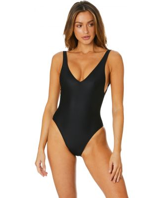 Kissmax Plain One Piece Black