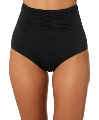 Moontide Contours High Waist Gathered Pant Black