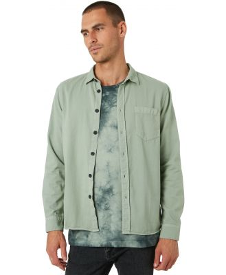Nudie Jeans Co Henry Mens Ls Shirt Pale Green
