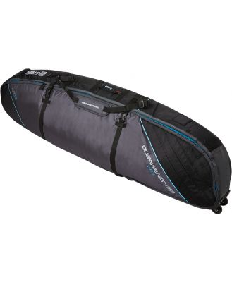 Ocean And Earth 6Ft6 Triple Wheelie Shortboard Cover Black Blue