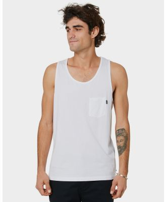 Rip Curl Plain Mens Tank White