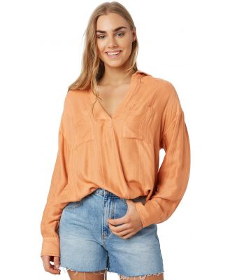 Rip Curl Sunrise Shirt Peach Peach