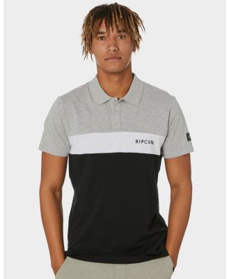 Rip Curl Undertow Panel Mens Polo Black