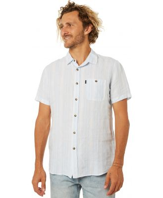Rip Curl Vertigo Mens Ss Shirt Blue River