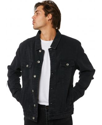 Silent Theory Cobain Mens Jacket Black