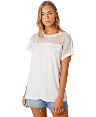The Hidden Way Oasis Mesh Insert Tee White