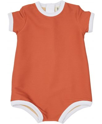 Zulu And Zephyr Mini Rib Onesie - Kids Plum Plum