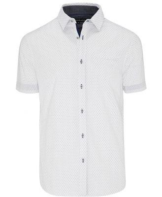 Tarocash Aries Print Shirt White L