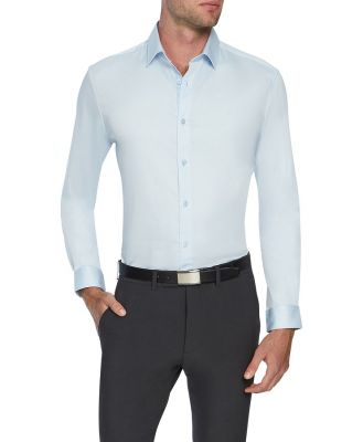Tarocash Bahamas Slim Stretch Shirt Ice Blue Xxxl