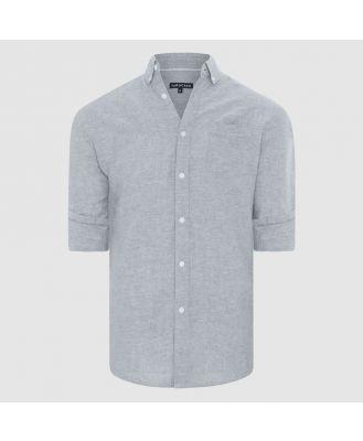 Tarocash Elliott Linen Blend Shirt Grey Xs