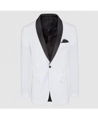 Tarocash Hector Shawl Collar Jacket White L