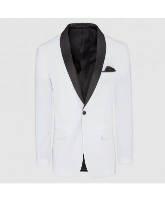 Tarocash Hector Shawl Collar Jacket White S