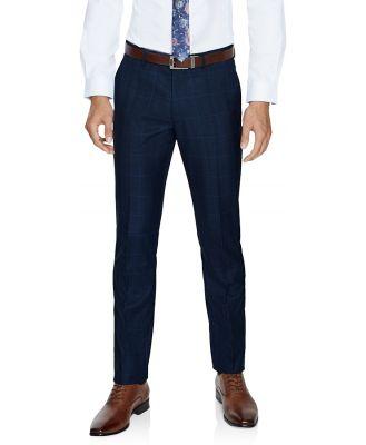 Tarocash Hemsworth Slim Check Pant Blue 40