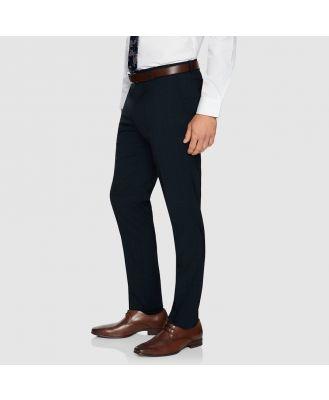Tarocash Kingsley Slim Check Pant Navy 34