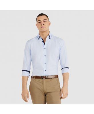 Tarocash Northworld Slim Textured Shirt Sky Xxl