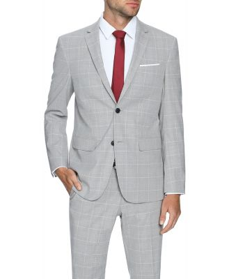 Tarocash Rubin Stretch 2 Button Suit Grey 38