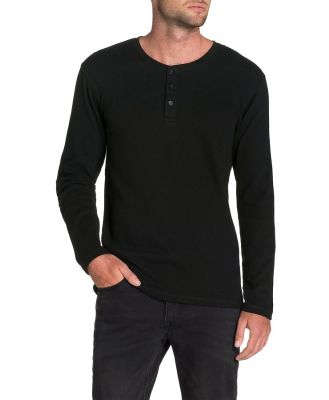 Tarocash Walker Henley Tee Black 5 Xl
