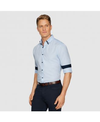 Tarocash Westworld Slim Textured Shirt Sky Xxxl