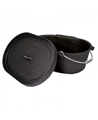 Campfire Pre-Seasoned Camp Oven 10QT - Oval