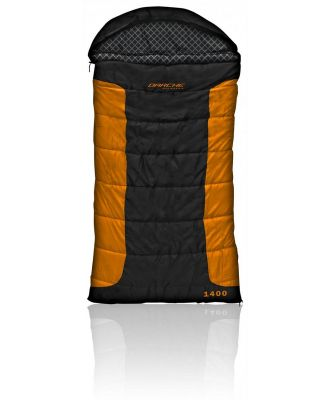 Darche Cold Mountain 1400 -12C Sleeping Bag - Black/Orange