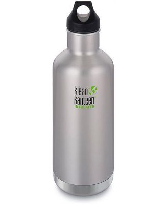 Klean Kanteen 32oz Insulated Bottle Classic Loop - Brushed Stainless