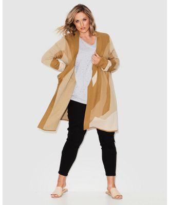 17 Sundays - Retrograde Knit Coat - Jumpers & Cardigans (Gold) Retrograde Knit Coat