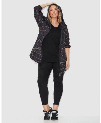17 Sundays - Sticks Print  Raincoat - Coats & Jackets (Black Multi) Sticks Print  Raincoat