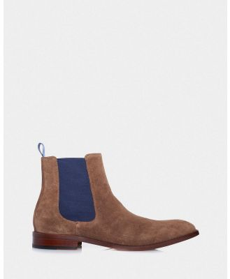 3 Wise Men - The Bowie - Boots (Brown Suede ) The Bowie