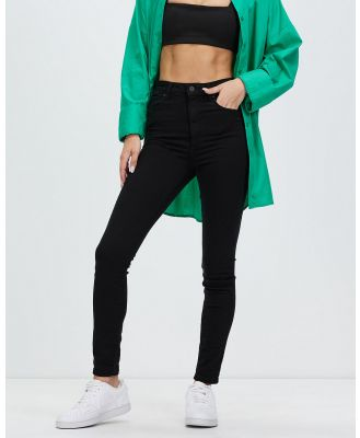 Abrand - A High Skinny Ankle Basher Jeans - High-Waisted (Black Magic) A High Skinny Ankle Basher Jeans