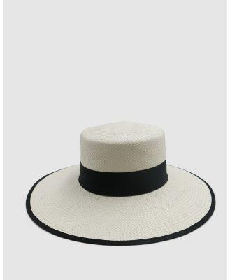 Ace Of Something - Crinita Boater - Hats (IVORY) Crinita Boater