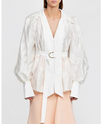Acler - Ramsay Blouse - Tops (Ivory) Ramsay Blouse