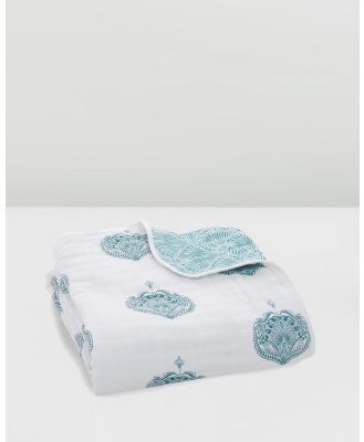 Aden & Anais - Classic Dream Blanket - Blankets (Paisley Teal) Classic Dream Blanket