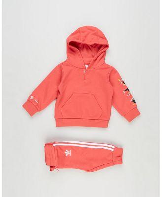 adidas Originals - Hoodie Set   Babies Kids - Track Pants (Pink) Hoodie Set - Babies-Kids
