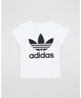 adidas Originals - Trefoil Tee   Kids - T-Shirts & Singlets (White & Black) Trefoil Tee - Kids