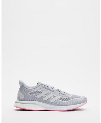 adidas Performance - Supernova Running Shoes   Women's - Performance Shoes (Halo Silver, Cloud White & Screaming Pink) Supernova Running Shoes - Women's
