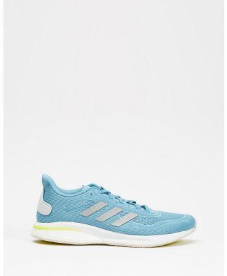 adidas Performance - Supernova Running Shoes   Women's - Performance Shoes (Hazy Blue, Halo Blue & Acid Yellow) Supernova Running Shoes - Women's