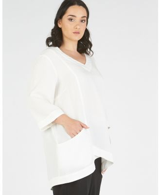 Advocado Plus - Anabelle Top - Tops (White) Anabelle Top