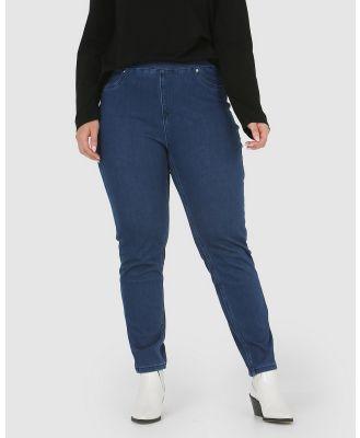 Advocado Plus - Carmen Pull On Jeans - Pants (Medium Blue) Carmen Pull On Jeans